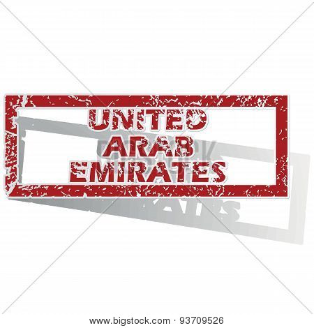 United Arab Emirates outlined stamp