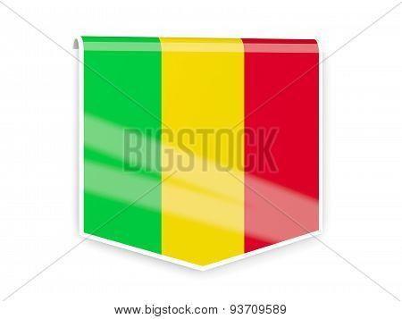 Flag Label Of Mali
