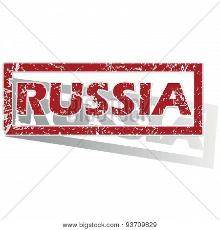 Russia outlined stamp