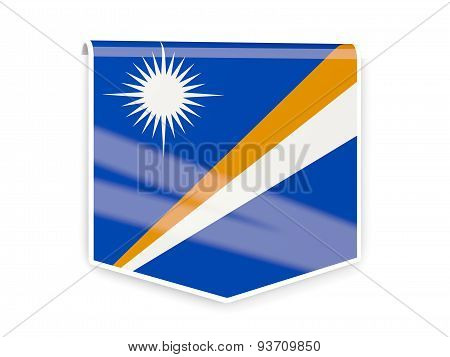 Flag Label Of Marshall Islands