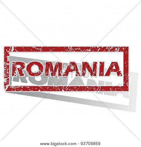 Romania outlined stamp