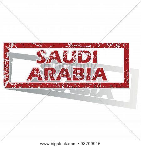 Saudi Arabia outlined stamp