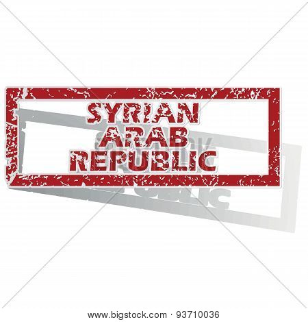 Syrian Arab Republic outlined stamp