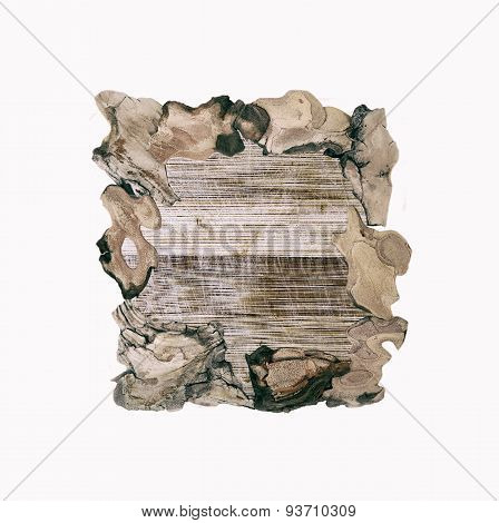 Wooden frames for paintings and photographs in old style isolated over white