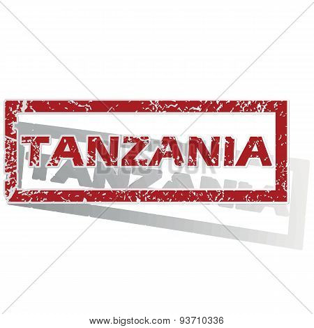 Tanzania outlined stamp