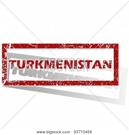 Turkmenistan outlined stamp
