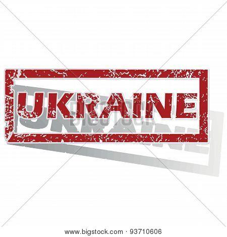 Ukraine outlined stamp