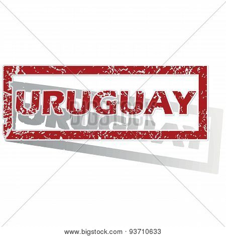 Uruguay outlined stamp