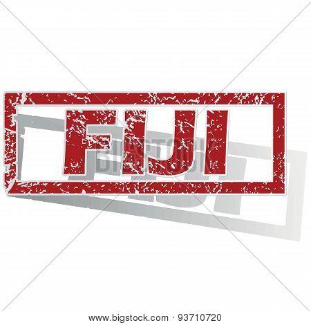 Fiji outlined stamp
