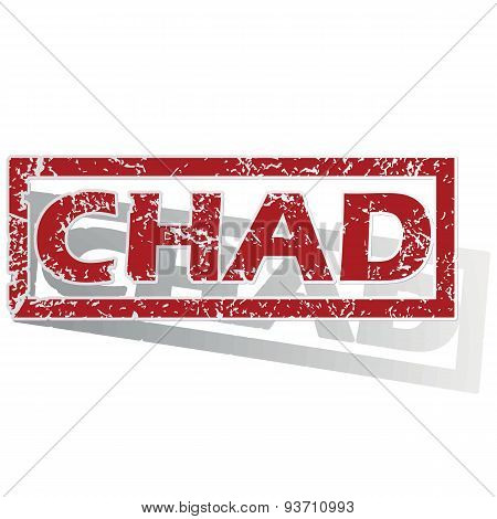 Chad outlined stamp
