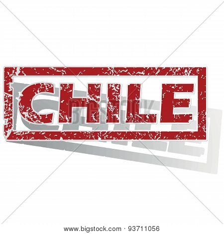 Chile outlined stamp