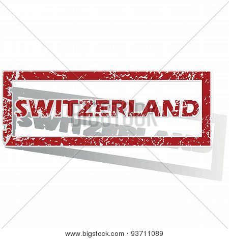 Switzerland outlined stamp
