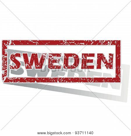 Sweden outlined stamp