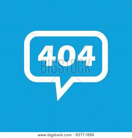 Error 404 message icon