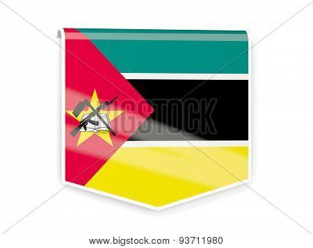Flag Label Of Mozambique