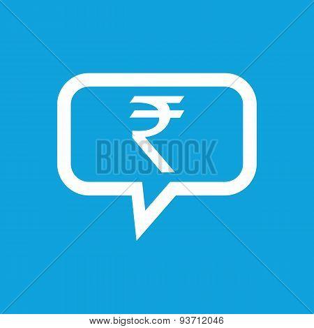 Rupee message icon