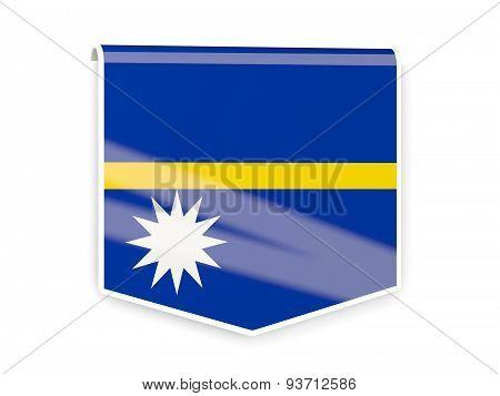 Flag Label Of Nauru