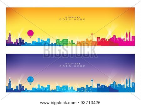 Vector of modern city skyline