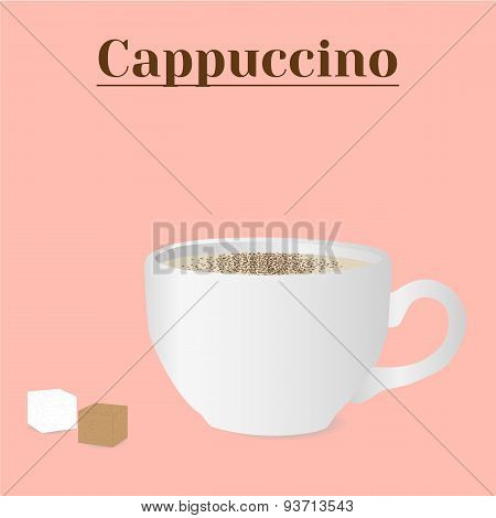 Vector Cup Of Cappuccino