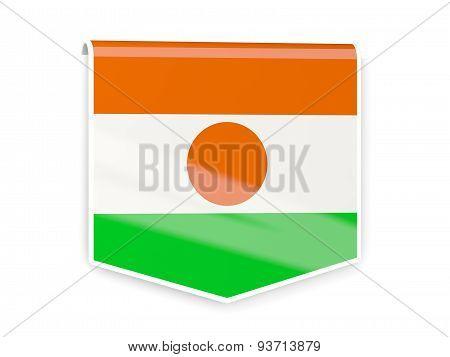 Flag Label Of Niger