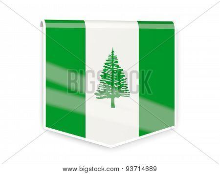 Flag Label Of Norfolk Island