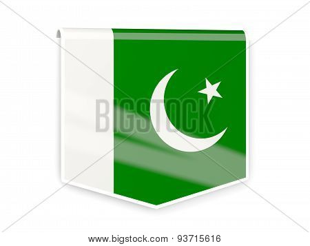 Flag Label Of Pakistan