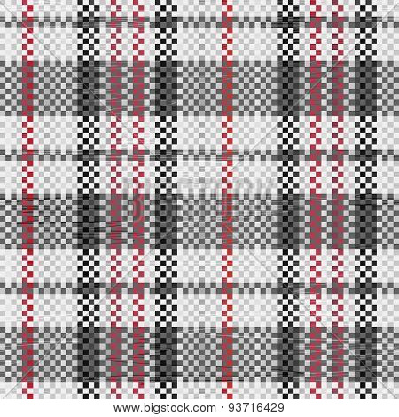 Polypropylene Woven Seamless Pattern In Black Colors