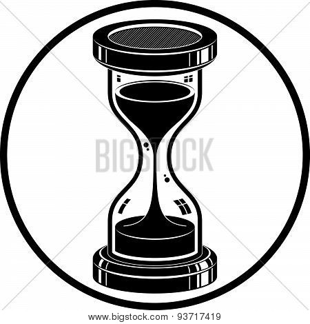 Time without end conceptual icon, web design element. 3d antique hourglass isolated on white. Time
