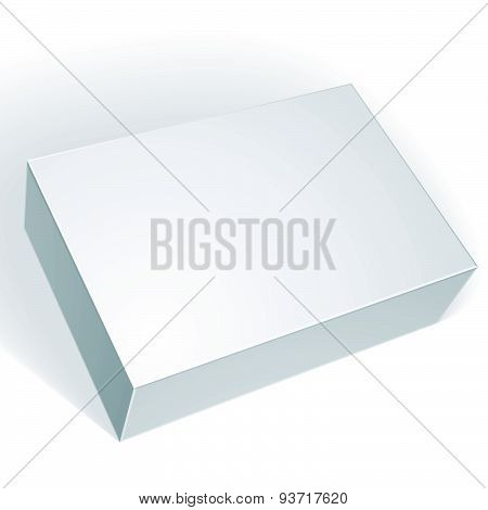 Package white box design isolated on white background, template for your package design
