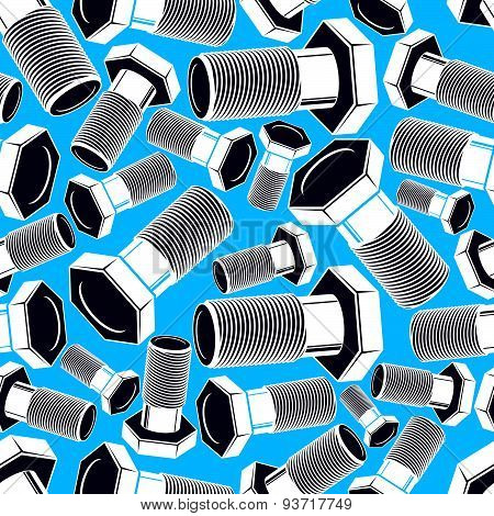 Bolt 3d seamless pattern. Creative background