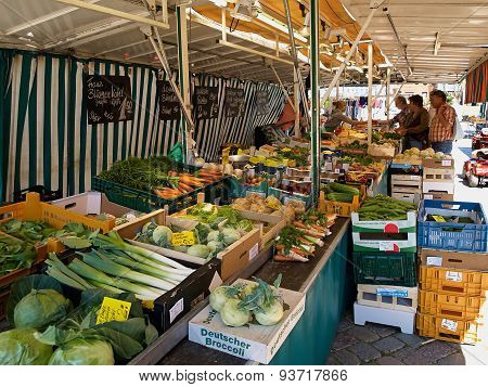 Fresh Organic Vegetables At Farmers Market