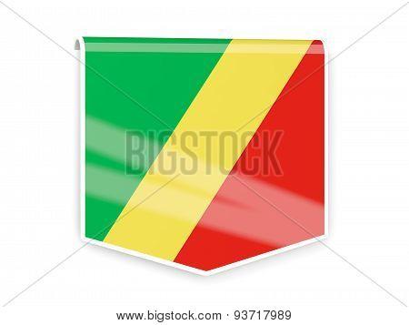 Flag Label Of Republic Of The Congo