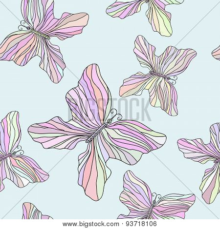 Seamless pattern with buterflies
