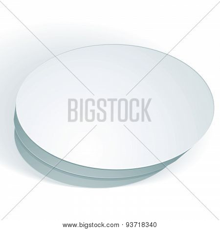 Vector blank round box isolated on white background, template for your package design