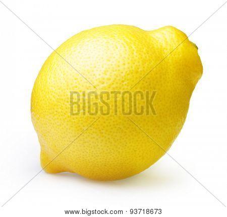 Lemon isolated on white background.