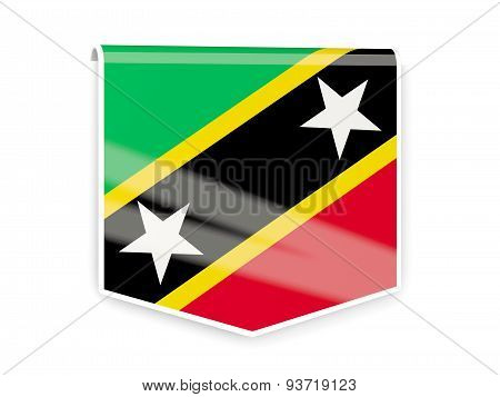 Flag Label Of Saint Kitts And Nevis