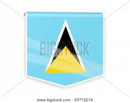 Flag Label Of Saint Lucia