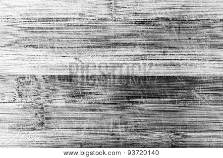 Wooden surface with scratches in monochrome. Texture for design and background
