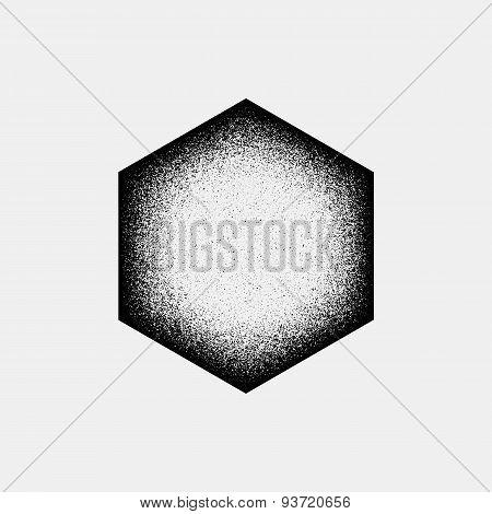 Abstract Polygon Badge