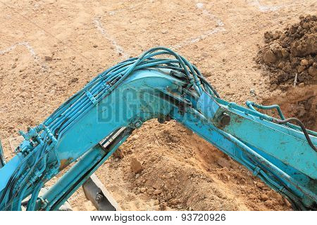 Arm Of Excavator Tractor Working