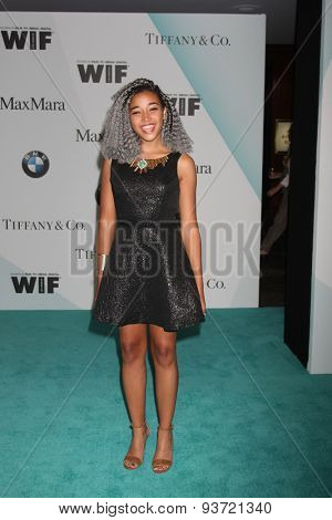 LOS ANGELES - JUN 16:  Amandla Stenberg at the Women In Film 2015 Crystal + Lucy Awards at the Century Plaza Hotel on June 16, 2015 in Century City, CA