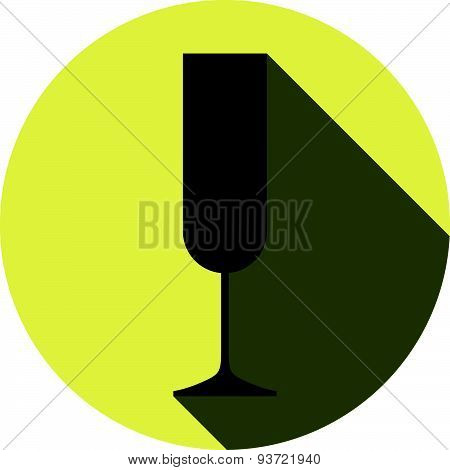 Alcohol theme icon, champagne goblet.
