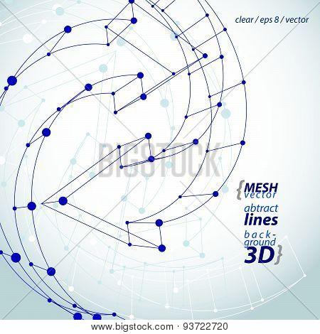 3d mesh black stylish web update sign isolated on white background