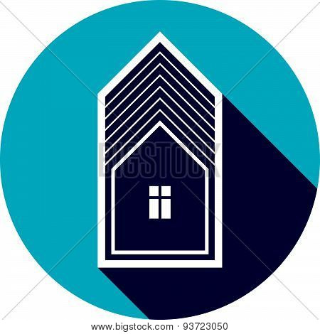 Real estate icon isolated on white, abstract house. Property developer symbol, conceptual sign, best