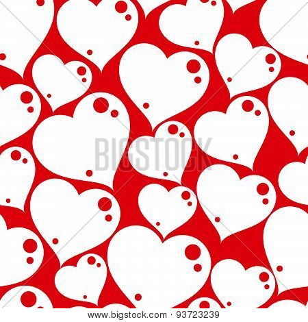 Valentines day conceptual art backdrop, loving hearts. Love theme seamless background, beautiful