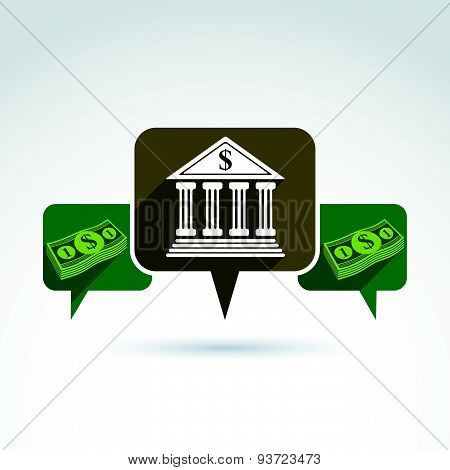 Banking credit and deposit money theme icon, vector conceptual stylish symbol for your design