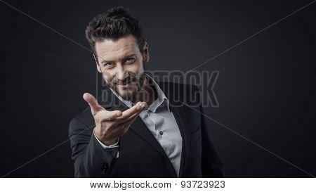 Attractive Welcoming Man