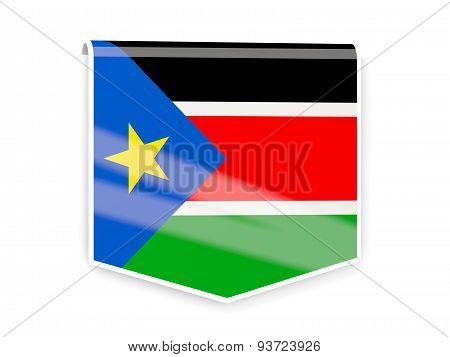 Flag Label Of South Sudan