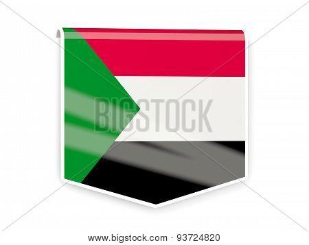 Flag Label Of Sudan