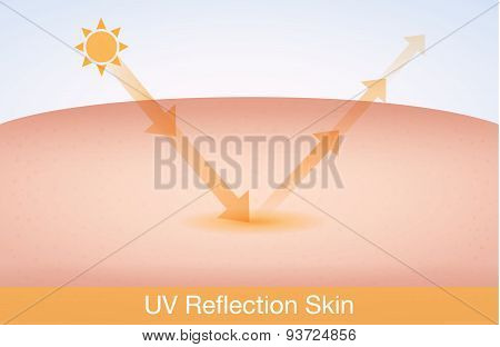 UV reflection skin